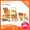 Contando o brinquedo de madeira dos brinquedos educacionais de Montessori das varas para o jardim de infância