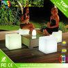 LED de plástico de colores Cubo Asiento Iluminación Bcr-116c