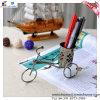 Récipient américain de stylo de décoration de bureau de modèle de tricycle de village