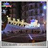 Reno derecho LED de la Navidad al aire libre del oropel con la luz del trineo