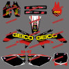 Sporcizia Bike Stickers&Motorbike&Motocross Stickers per Honda Crf250r Crf250 Motorcycle 2006 2007 (DST0157)
