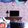 Papel pintado púrpura y blanco desprendible del vinilo