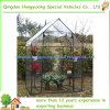 Estufa com o jardim ao ar livre reforçado prateleiras da tampa do frame