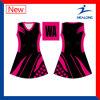 ODM en bonne santé de la sublimation 3D de dri de Healong une ligne robe de Netball de filles
