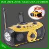 Haut-parleur &Solar par radio de radio de lecteur MP3 et de manivelle et de radio de lecteur de musique de jardin de FM/Am et de lampe-torche de secours