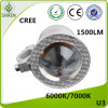 Luz universal de Moto de la lámpara de la motocicleta del CREE 30W U3 LED