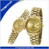 Роскошный wristwatch пар с плакировкой золота IP