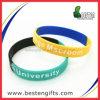Bracelet en caoutchouc fait sur commande bon marché de silicone de Debossed Colorfilled (SW00020)