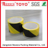 Fita preta e amarela do PVC da proteção