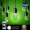 La nouvelle lumière d'ampoules des éléments RVB DEL