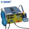 Saike 909d+ 열기 전자총 납땜 역 Desoldering 역 DC에 의하여 통제된 3 In1 15V 3A를 전력 공급