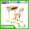 Single de madeira School Student Desk e Chair