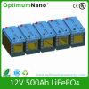 bateria de 12V 500ah LiFePO4 para o sistema solar