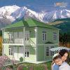 세륨 가벼운 강철 구조물 조립식 가옥 집