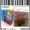 Cremalheira de indicador Foldable da gaiola do armazenamento móvel do supermercado
