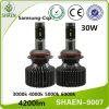 30W 4200lm 9007の自動車LEDのヘッドライトランプ