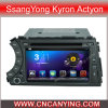 Ssangyong Kyron Actyon (AD-7020)를 위한 A9 CPU를 가진 Pure Android 4.4 Car DVD Player를 위한 차 DVD Player Capacitive Touch Screen GPS Bluetooth