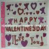 De valentijnskaart schittert de Sticker van het Gel van het Venster