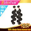 человеческие волосы 100% Remy объемной волны 7A Virgin Peruvian Extensions в 22 ''