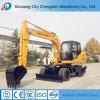 Excavador de la rueda de la maquinaria de construcción mini con precio de fábrica