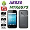 A5830 MTK6573 3G WiFi GPS 텔레비젼 3.5 인치 전기 용량 접촉 스크린 똑똑한 전화