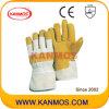 Желтый Свинья Сплит кожа Промышленная безопасность Рабочие перчатки (21003)
