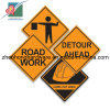 Reflective Film (ZH-TS-025)를 가진 알루미늄 Plate Square Traffic Signs