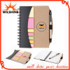 Custom High Quality Hardcover Sticky Note Pad com caneta (NP102)