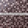 Украшение кухни и уборного мозаики кристаллический стекла смешивания золота цвета Brown типа способа Silk смешанное покрынное (HK01)