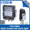 60W CREE LED Square Working Light voor Heavy Vehicles