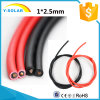 cable solar Black&Red TUV&UL Mc4X2.5-B del conector de 1*2.5mm2 600/1000V