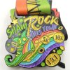 Цветастое пожалование медали марафона Glitteryl сверкная с талрепами