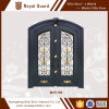 Modèles de porte de sûreté/porte extérieure de villa/porte en partie double avec la traverse