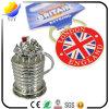 Charme-Form-Metallschlüsselkette mit Nickelplattierung-Metallzink-Legierungs-Schlüsselkette des Effekt-3D