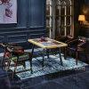 O jogo industrial da mobília do restaurante do estilo com a tabela do retângulo para 4 pessoas usou-se (SP-CT790)