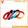 Regalo di gomma di promozione del Wristband del silicone del Wristband del braccialetto su ordinazione del silicone (YB-HR-379)