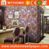 Constructeurs 2017 de papier à la maison de mur du vinyle 3D de PVC de décoration de Guangzhou