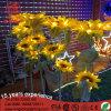 Luz impermeable del girasol de la flor artificial del LED para de interior al aire libre de la decoración de hadas del jardín