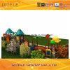 de 114mm Gegalvaniseerde Post Kleurrijke Dubbele Apparatuur van de Speelplaats van de Kinderen van de Vloer Openlucht