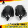 Chapeaux de couverture de miroir de côté de fibre de carbone pour BMW E90 E91 Lci 335I 328I 335D 2009-2012