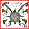 Relojes caseros del metal de la mariposa de la pared de la decoración del arte