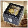Eco marcado armazenamento durável do relógio do couro do plutônio encaixota a caixa