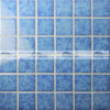 Glatte blaue keramische Mosaik-Fliese Blosssom in der Kristallglasur (BCK619)