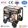 6kw 낮은 방출 디젤 엔진 발전기 세트 (열리는 유형이)