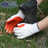 Nmsafety 10g Cheap Recycle Polyester Liner Laminated Latex Safety Glove