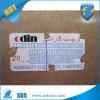 Sticker van de Eierschaal van de Garantie van de Stamper van de douane de Duidelijke Vinyl