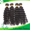 Estensione superiore dei capelli umani dell'onda profonda non trattata naturale di 100%