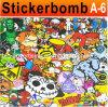 Горячий стикер Sell Car Unique Graffiti Film Car Vinyl Bomb с Air Free Bubble