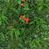 잎 산울타리 매트 인공적인 잔디 담