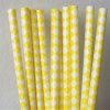 Paja de papel respetuosa del medio ambiente amarilla del color el 100% para el partido